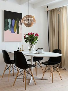 A bright family home in the Finnish countryside - Paul & Paula Wicker Dining Chairs, Eames Chairs, Bar Chairs, Desk Chairs, Dining Rooms, Accent Chairs Under 100, Hanging Chair From Ceiling, Most Comfortable Office Chair, Round Chair