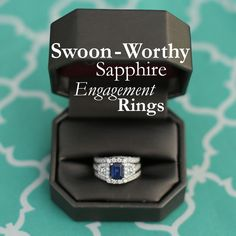 Sapphire engagement rings are becoming more and more popular! Get the scoop on the colorful trend! #ShaneCo
