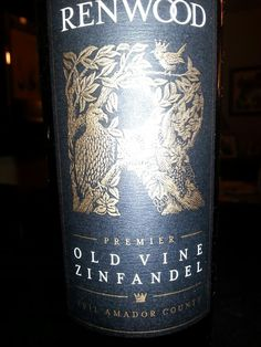 Rendwood Old Vine Zin, 2011, Amador County, CA $18
