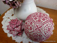 Toile de lin et petites croix: Quaker ball BLOG link to TUTORIAL