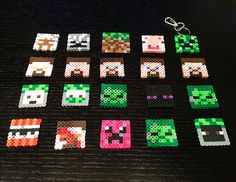Minecraft Army Characters perler beads by CreativeKidShoppe