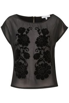 **Floral Flocked T-Shirt by Rare