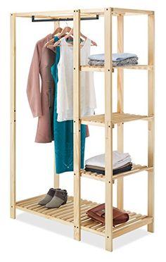 Whitmor Slat Wood Wardrobe Whitmor