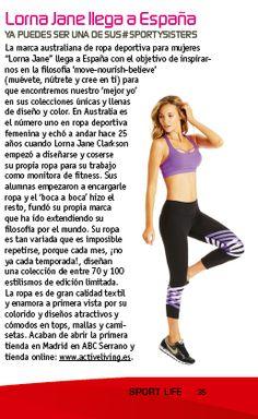 ¡Gracias a @sportlife_es por su mención en la revista de febrero!  #ActiveLiving #VidaActiva #MoveNourishBelove #MuéveteNútreteConfíaenTi #LornaJaneES @abcserrano