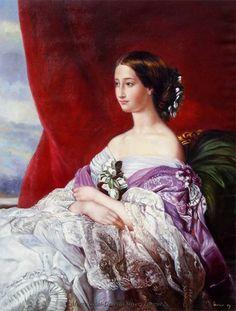 Copy of Franz Xaver Winterhalter. Empress Eugénie, 1854.