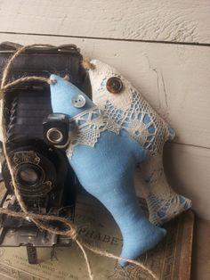 Blue vintage fish decoration
