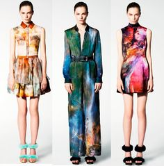 ▲▲Lacing Up▲▲: Christopher Kane's Galaxy.   I am so in love with the last dress.