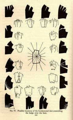 Dart Manipulation Mabel Erwin 'Practical Dress Design' pMabel Erwin 1940 Costume Design Source by LySaKaWelcome to www hannahwroe comPattern Making Fundamentals: Dart manipulation and pivot points (VIDEO)Sleeves one pattern. Many options on finishing Sewing Hacks, Sewing Tutorials, Sewing Projects, Sewing Tips, Techniques Couture, Sewing Techniques, Pattern Cutting, Pattern Making, Dress Sewing Patterns