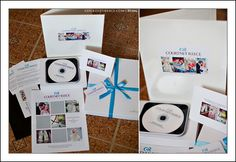 love the simple, classic, clean look! I do similar, all white boxes, my tin cd cases and blue(or black) ribbons.
