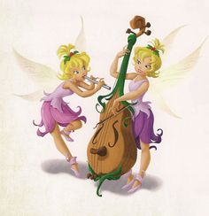 Pixie Hollow Cast - LYRA(right) and ARIETTE