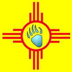 Zia Symbol and Bear Paw by newmexico51, via Flickr