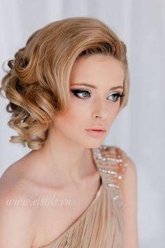 Peinado de tipo vintage para melena corta | 20 fotos de peinados para novias actuales y elegantes