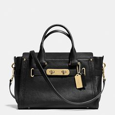 Coach Swagger Carryall In Pebbled Leather Leather Satchel, Pebbled Leather, Leather Purses, Leather Handbags, Satchel Bag, Crossbody Bags, Coach Handbags, Coach Purses, Coach Bags