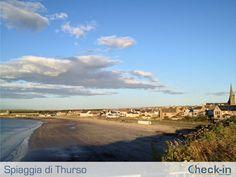 Scorcio di Thurso e della sua spiaggia dalla passeggiata di Victoria Walk. #Scozia