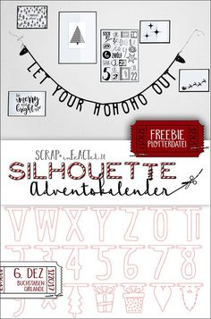 Silhouette – advent calendar – a new cutting file every day! DAY 6 SCRAPinF … – night make up Silhouette Mint, Silhouette Curio, Silhouette Portrait, Silhouette Cameo Freebies, Brother Plotter, Typography Poster Design, Diy Papier, Diy Garland, Holy Night
