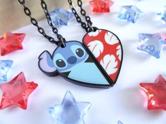 Lilo and Stitch BFF Necklace Set by HappysCharms on Etsy https://www.etsy.com/listing/250181274/lilo-and-stitch-bff-necklace-set