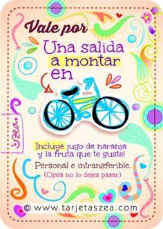 Vale por: Una salida a montar en bicicleta. Incluye jugo de naranja y la fruta que te guste!