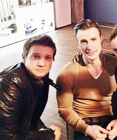myedit Chris Evans Jeremy Renner byee Marvel cast marvelcastedit cevansedit chris is an actual angel