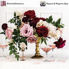 Paleta de cores deslumbrante. Chique e sofisticado! ✨✨ Regram @revistafestaviva | #flores #flowers #marsala #letsparty