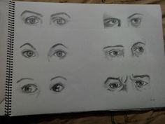 Eyes says it all.