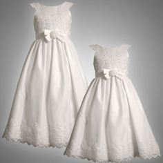 Size-6 BNJ-6006R WHITE ROSETTE WAIST SEQUIN PEARL EMBELLISHED SATIN Special Occasion Wedding Flower Girl First Communion Party Dress,R76006 Bonnie Jean-Iris & Ivy GIRLS  Bonnie Jean , http://www.amazon.com/dp/B004VQ4HJO/ref=cm_sw_r_pi_dp_T56Epb1SW1W1B