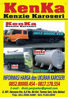 KAROSERI TRUCK TANGKI PEMANAS ASPAL dan CPO >> KAROSERI KENKA Dan, Trucks, Truck, Track