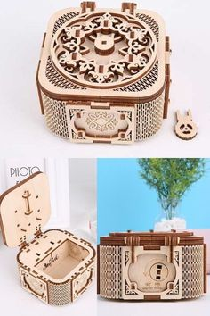 perfect little brain-game for your chlid/kid,#gift #musicbox #jewelrybox #kid #child #braingame Wooden Puzzles, Wooden Boxes, Wooden Model Kits, Ode To Joy, Three Dimensional, Jewelry Box, Brain, Decorative Boxes, Child