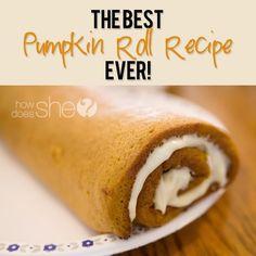 The Best Pumpkin Roll Recipe Ever! #howdoesshe #desserts #recipes howdoesshe.com