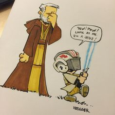 Star Wars Comic (Calvin and Hobbes) - Luke and Obi-Wan