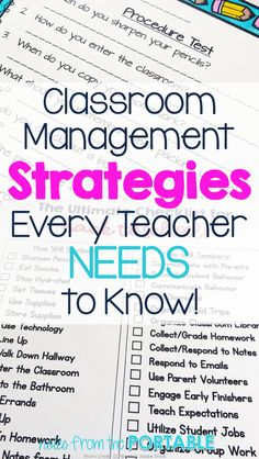 Classroom Management is the one thing that can make or break a school year. These 6 tips will get you on the right track to a successful school year.