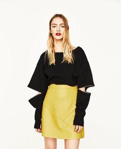 Yellow A-LINE SKIRT from Zara