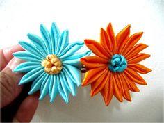 Moños flores dieciséis pétalos de una sola pieza