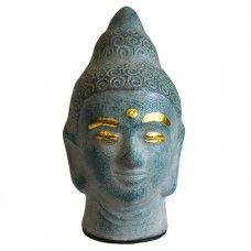 Antique Buddha Head - Grey, Made from terracotta, H: 15 cm, D: 5 cm. #Dochsa