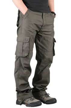 Autumn Men's Cargo Pants Casual Mens Pant Multi Pocket Military Overall Men Outdoors High Quality Long Trousers Plus size Mens Trousers Casual, Casual Pants, Men Casual, Casual Styles, Casual Clothes, Mens Cargo, Cargo Pants Men, Cool Outfits For Men, Camouflage Fashion