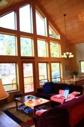 Windows with a view of Wallowa Mountain   Wallowa Lake Vacation Rentals Cedar Creek Chalet #45 www.wallowalakevacationrentals.com