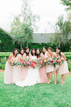 #bridesmaids #mismatched #pink @weddingchicks