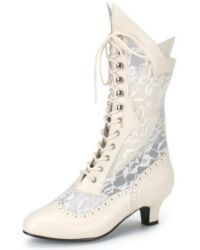 I want white boots for my wedding day.