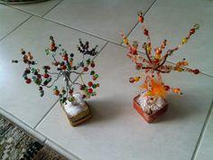 orange crystal tree
