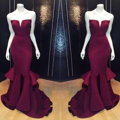 2016 New Arrival Marsala Burgundy Mermaid Prom Dresses Ruffles Notched Front Slit Formal Evening Gowns Custom Made Formal Dress Pageant Shj Designer Evening Gowns Evening Dresses For Women From Alexiabridal, $124.61| Dhgate.Com