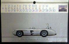 Mercedes Benz 1972 Calendar w/ Cars from 1893 onwards