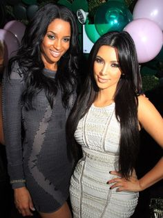 Kim Kardashian - Ciara Celebrity Best Friends