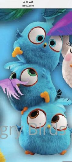 I found the Blues! #angrybirdsmovie. <<<actually I just found this on Pinterest, I have no idea where this came from. I think the image is on the wiki