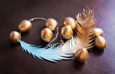DIY Necklace  : DIY Leather-Feather Metallic Statement Necklace