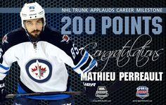 Mathieu Perreault, Winnipeg Jets • December 15, 2016 • NHLTrunk.com
