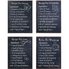 Metal Wall Art | Kitchen Wall Art | Metal Recipes Signs