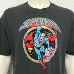 Superman DC Comics XL T-Shirt Superhero Cartoon Kal-El Flying Justice League