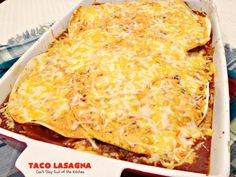 Taco Lasagna – Can't Stay Out of the Kitchen Homemade Guacamole, Homemade Salsa, Homemade Taco Seasoning, Taco Lasagna, Mexican Lasagna, Lasagna Recipes, Gourmet Recipes, Cooking Recipes, Healthy Recipes