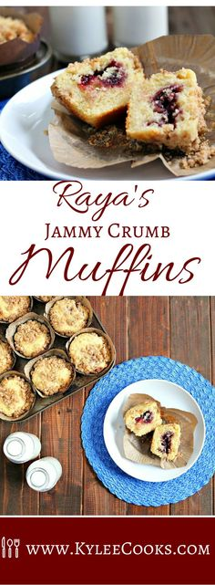 Raspberry Crumb Muffins Delicate, vanilla-y muffins, with a buttery crumb topping, and a sweet jammy surprise inside, these won't last long! Zucchini Muffins, Muffins Blueberry, Brunch Recipes, Dessert Recipes, Breakfast Recipes, Party Recipes, Breakfast Ideas, Easy Desserts, Delicious Desserts