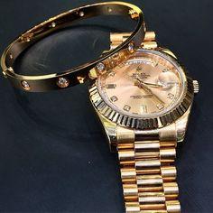 My Cartier love bracelet with 10 diamonds and my Rolex Watch Necklace, Bracelet Watch, Luxury Watches, Rolex Watches, Cute Jewelry, Jewelry Accessories, Pinterest Jewelry, Luxury Jewelry, Piercings