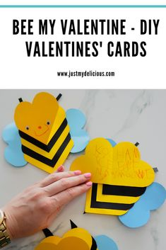 BEE MY VALENTINE - VALENTINES' DIY CARDS FOR KIDS #valentines #valentinesday #valentinesdaycrafts Diy Valentines Cards, Kids Valentines, Plasticine, Kids Cards, Quality Time, Bee, Crafts, Lifestyle, Recipes